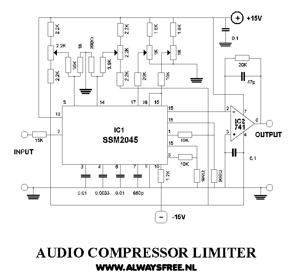compressor 01 here can you find a schematic of a audio compressor rh nl3asd tripod com Audio Mixer Circuit Schematic Low Pass Audio Circuits Schematics